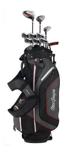 MacGregor DX Plus Golfschläger-Set, Stahl / Graphit schwarz Schwarz / Rot Pack of 11 - 1