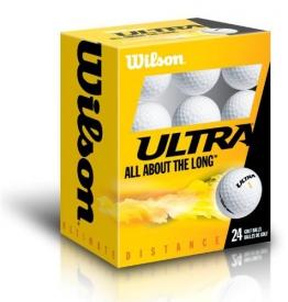 WILSON Golfbälle 24er Pack Ultra 24VPE, Weiß - 1